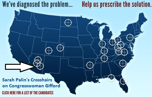 Palin PAC has Giffords in crosshairs