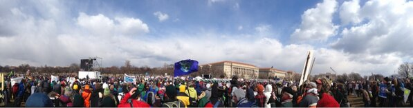 February 17, 2013 Climate change protest, DC