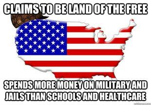 Claims to be the land of the free . . .