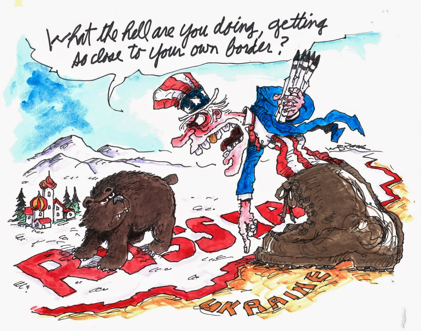 Cartoon: Uncle Sam to ...