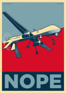 Nope drone-poster