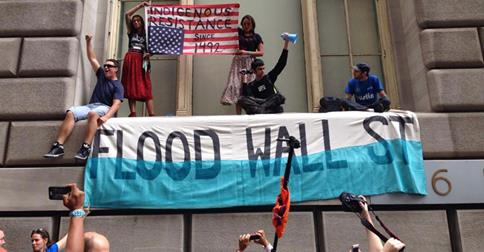 Native Americans at Flood Wall Street