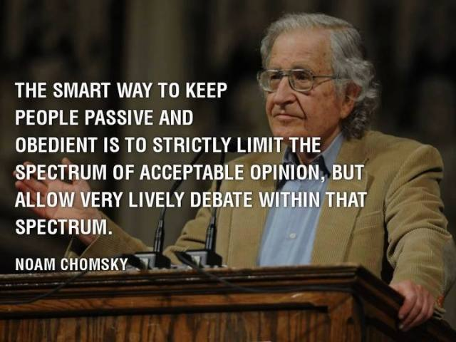 Chomsky spectrum of debate