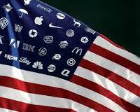 Flag with corporations