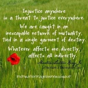 injustice MLK full quote