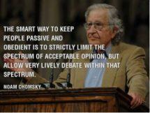 Chomsky spectrum of debate