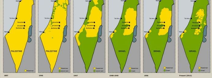 Map Palestine Israel