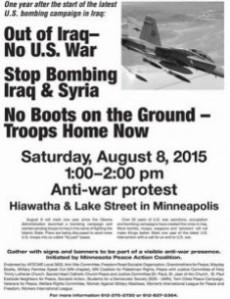 No War Demo Aug. 8 2015
