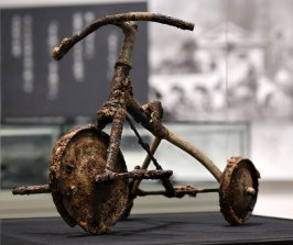 Child's incinerated tricycle. Photo: The Hiroshima Peace Memorial Museum