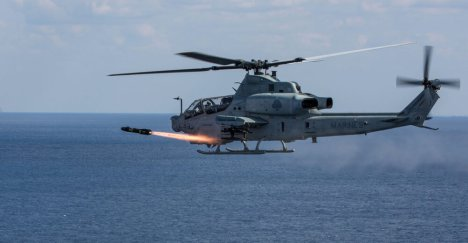 Sales to the Philippine military of attack helicopters with Hellfire and Stinger missiles, Advanced Precision Kill Weapons Systems, and Honeywell Global Positioning were preapproved by the U.S. Security Cooperation Agency, but are pending U.S. Congressional approval. Photo: Lance Cpl. Sean M. Evans, U.S. Marine Corps