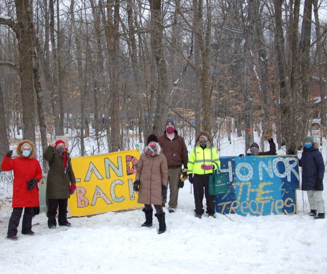 Women Against Military Madness visited a resistance encampment in northern Minnesota.